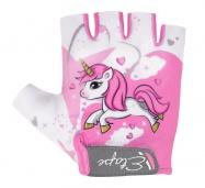 Etape – dětské rukavice TINY, bílá/růžová