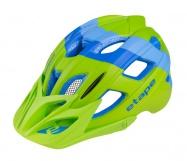 Etape – dětská přilba na kolo HERO, zelená/modrá mat