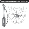 TOPEAK nářadí CHAIN WHIP/SPROCKET REMOVER