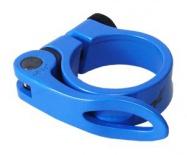 objímka sedlovky MRX AL 31,8 modrá RU