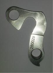patka přehazovačky 280029 frézovaná elox stříbrná
