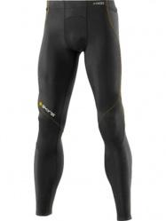 A400 Skins pánské kompresní kalhoty dlouhé Black/Yellow