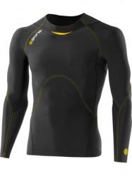 A400 Skins pánské kompresní triko dlouhý rukáv Black/Yellow