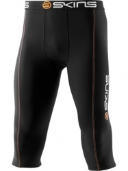 SKINS Snow Thermal Black/Orange 3/4 Tights