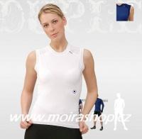 MOIRA Duplex dámské triko bez rukávu bílé