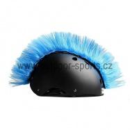Crazy Uši ozdoba na helmu - Číro Wiggystyle Mohawk Tyrkys