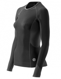 SKINS S400 Womens Black/Graphite/White Thermal L/S Top