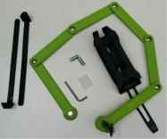 zámek článkový plochý 840mm/6 článků zelený