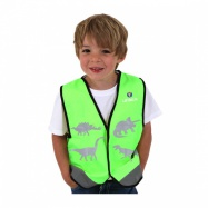 LittleLife Reflective Safety Vest Dinosaur Small