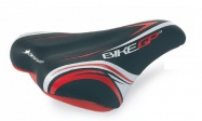 "sedlo SEL.BASS. BIKE GP 3 16"" blk/red/wh"