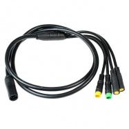 EVbike Hlavní kabelový svazek pro středové pohony s vodotěsnou kabeláží (4 výstupy) - EVBIKE